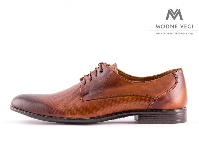 Elegantné topánky - kožené model 138 T - hnedé  e914a906592