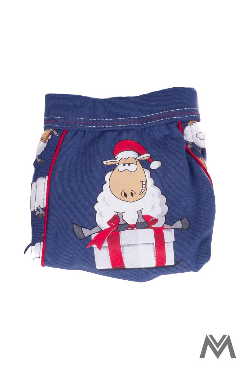 0a307ec807ce Vianočné boxerky- modré so vzorom Ovečka