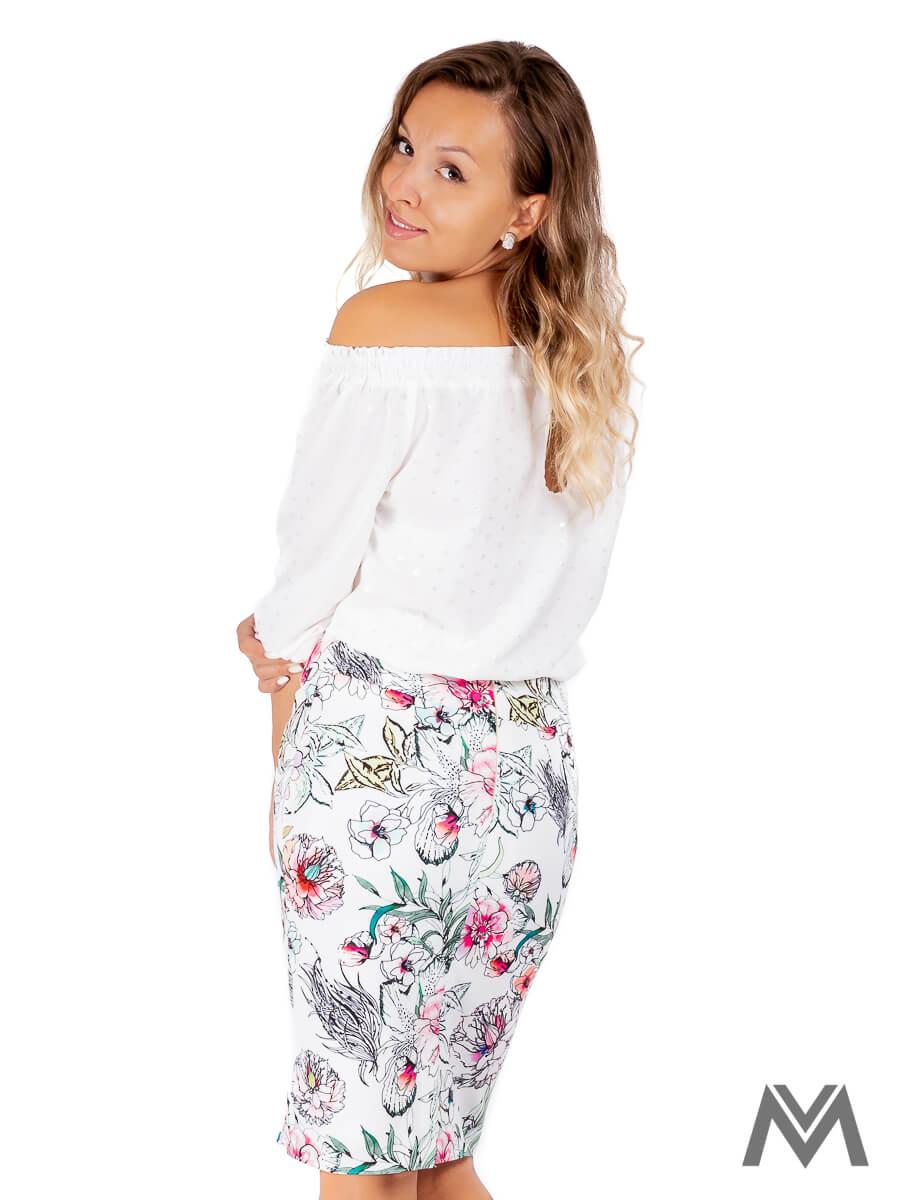 4018022cb0e3 Dámska puzdrová sukňa VS-SU-1850 kvetinová