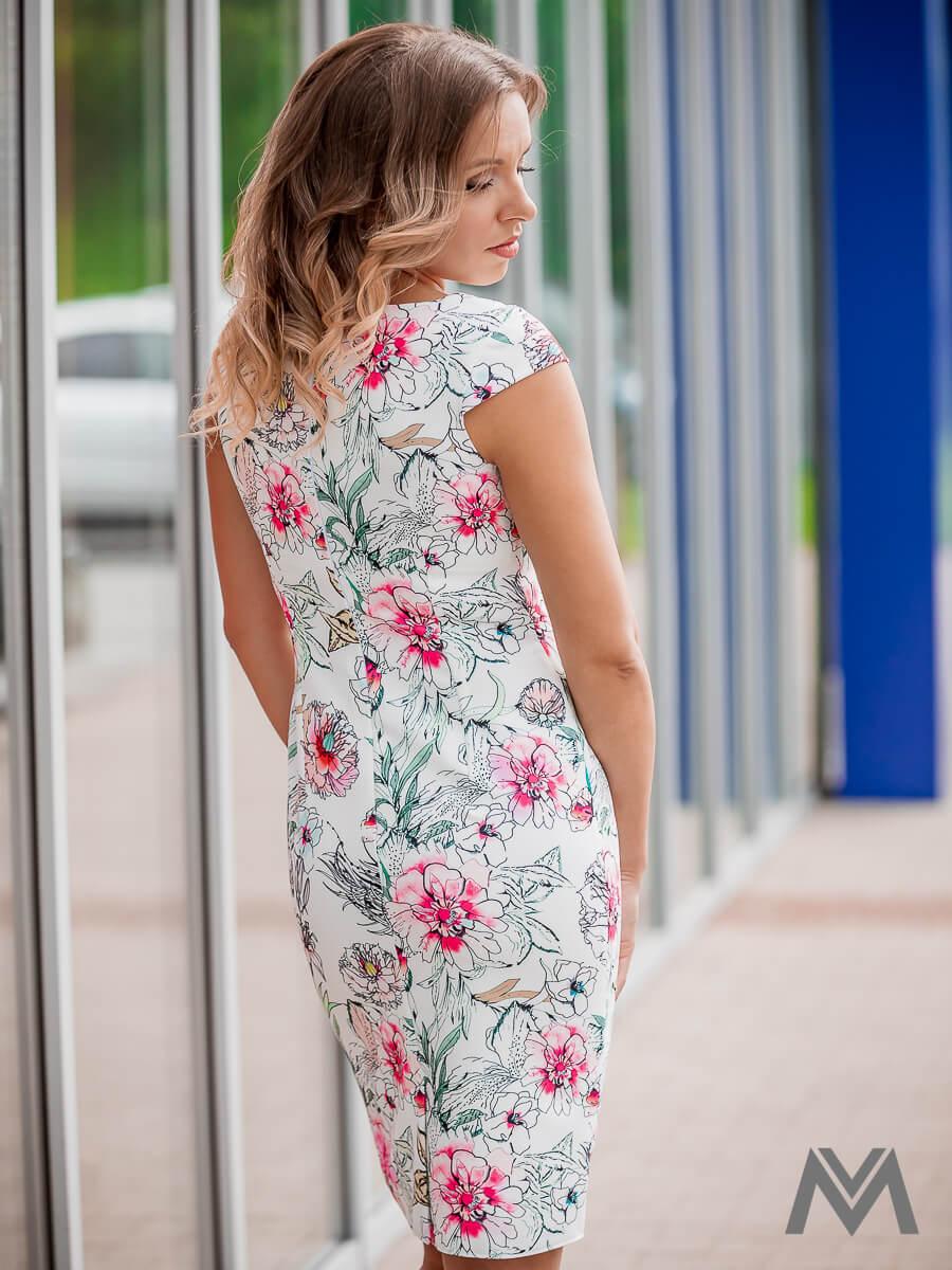 dfc8c9f85316 Dámske puzdrové šaty VS-SA-1853 kvetinový vzor