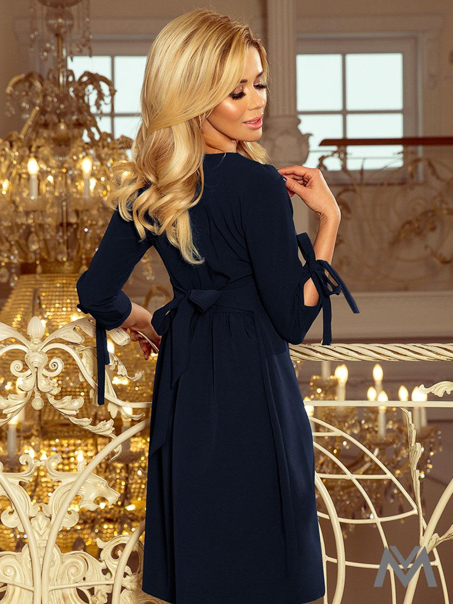 33ab0770d9a9 Elegantné dámske šaty Alice 195-5 tmavo modré
