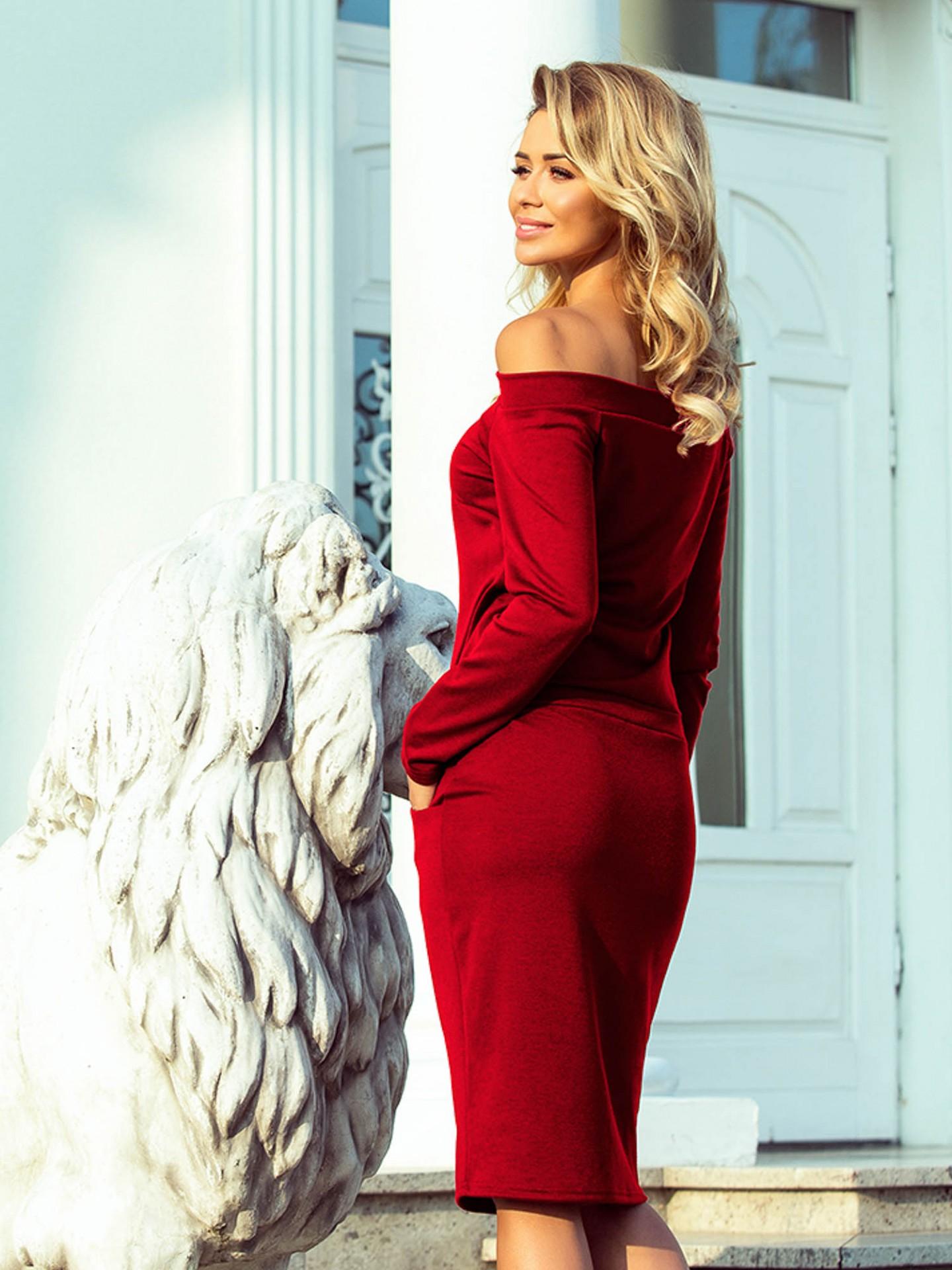 0b9af6189f5a Dámske puzdrové šaty RAYA 225-2 červené
