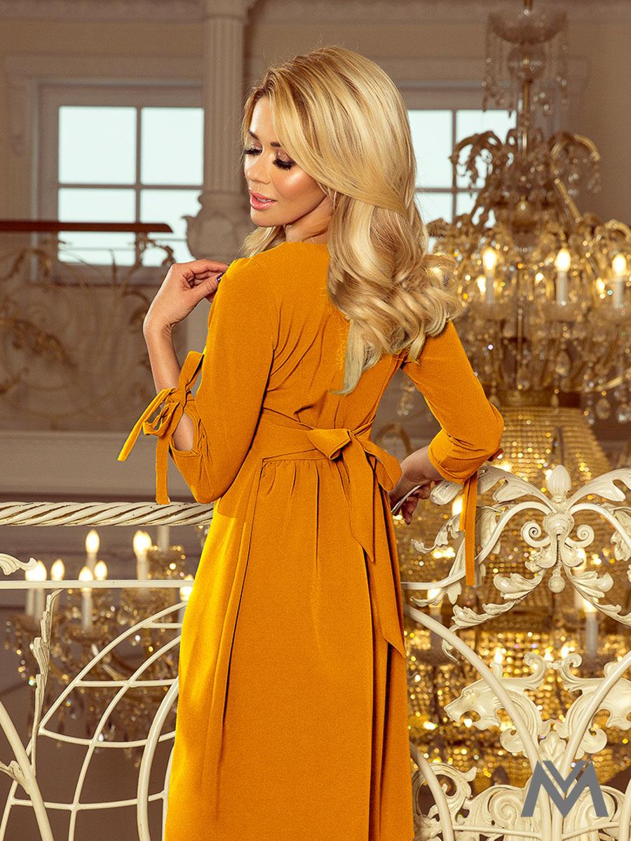 834d01a7c8b6 Elegantné dámske šaty Alice 195-6 horčicové