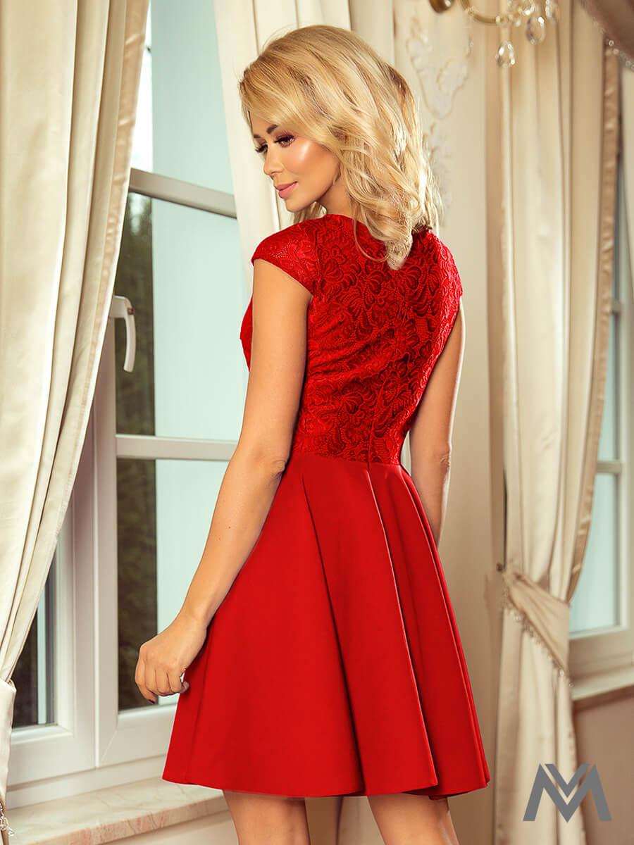 ba8d01e4dea5 Krásne dámske šaty 157-8 červené s čipkou