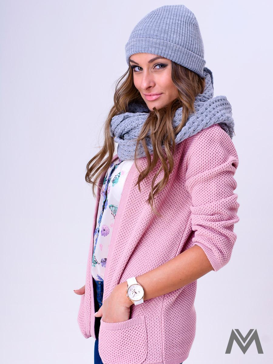 411a5d120657 Dámsky sveter NESS - staro ružový