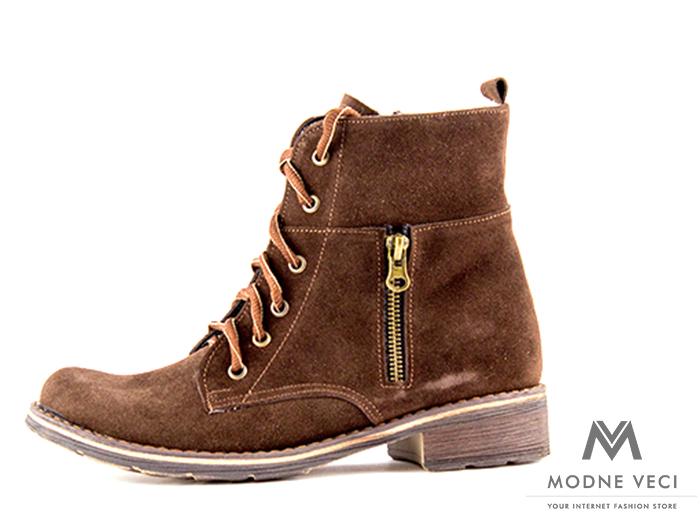 7b33942a35d3 Dámske topánky na zimu kotnik vyšši 04 hnedé