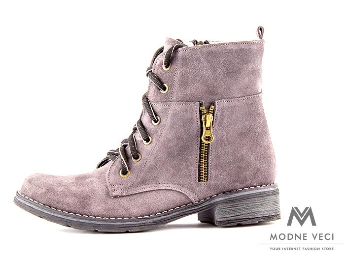 f90ec49e009d Dámske topánky na zimu kotnik vyšši 04 siva