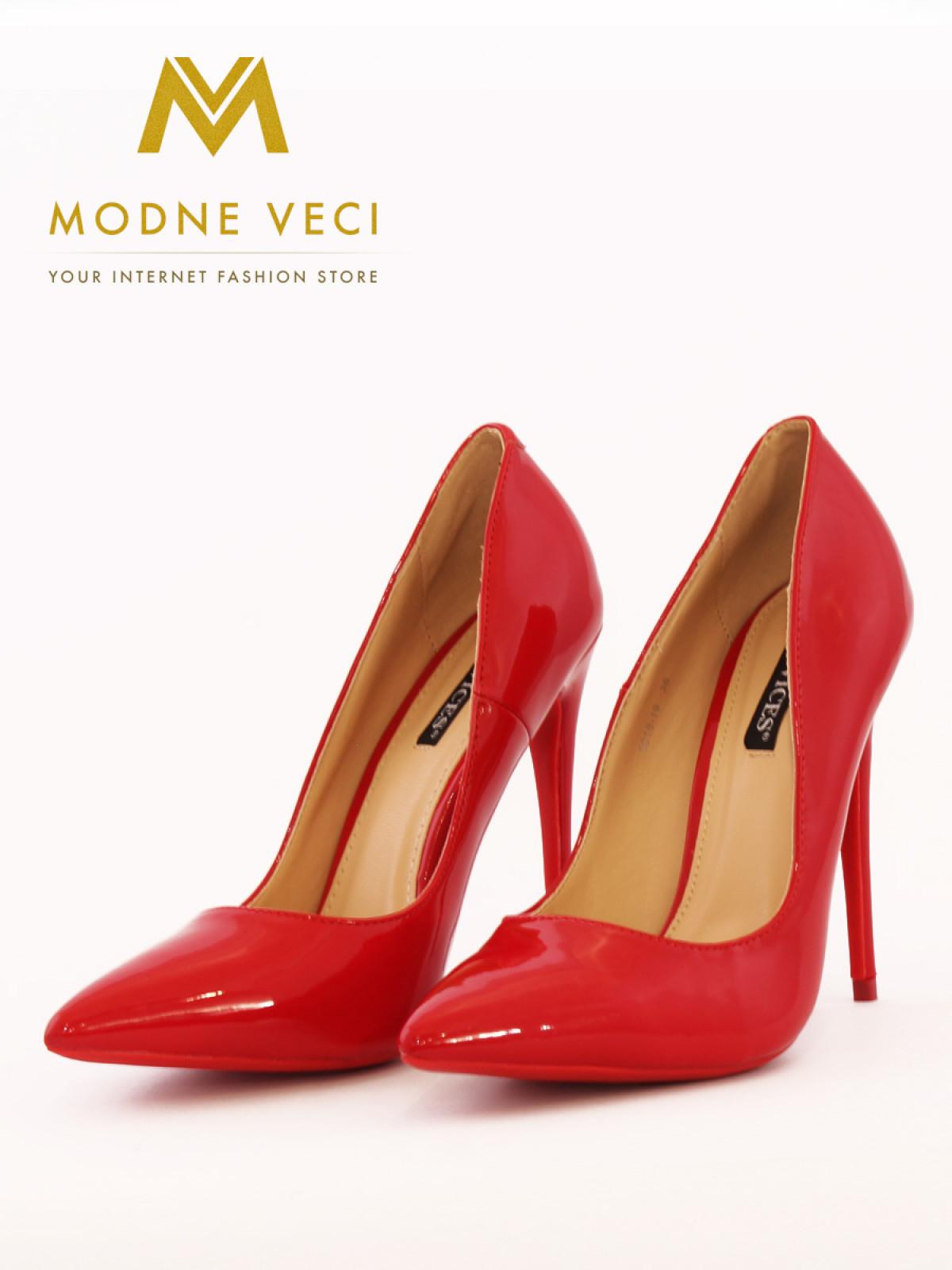 0cb905b10b713 luxusne, dámske, lodicky, cervene, leskle, vysoke, ihlicky, pohodlne,