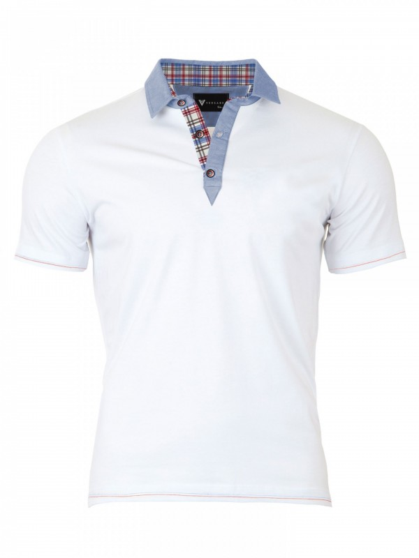 d9bac176ab40 Pánske Polo tričko Versabe biele VS-PoloM 1909