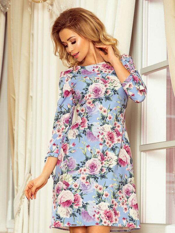 ca84d6f80df1 Elegantné dámske šaty Alice 195-9 Kvetinové