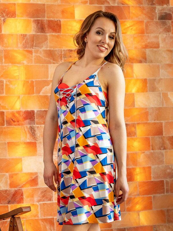 e1a615fd9881 Dámske šaty na leto VS-SA 1913 vzor geometrický vzor