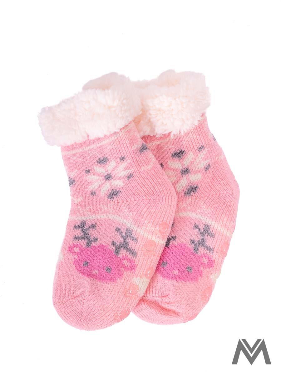 f646fd250 Termo ponožky Sobík pre bábätká ružové | ModneVeci.sk