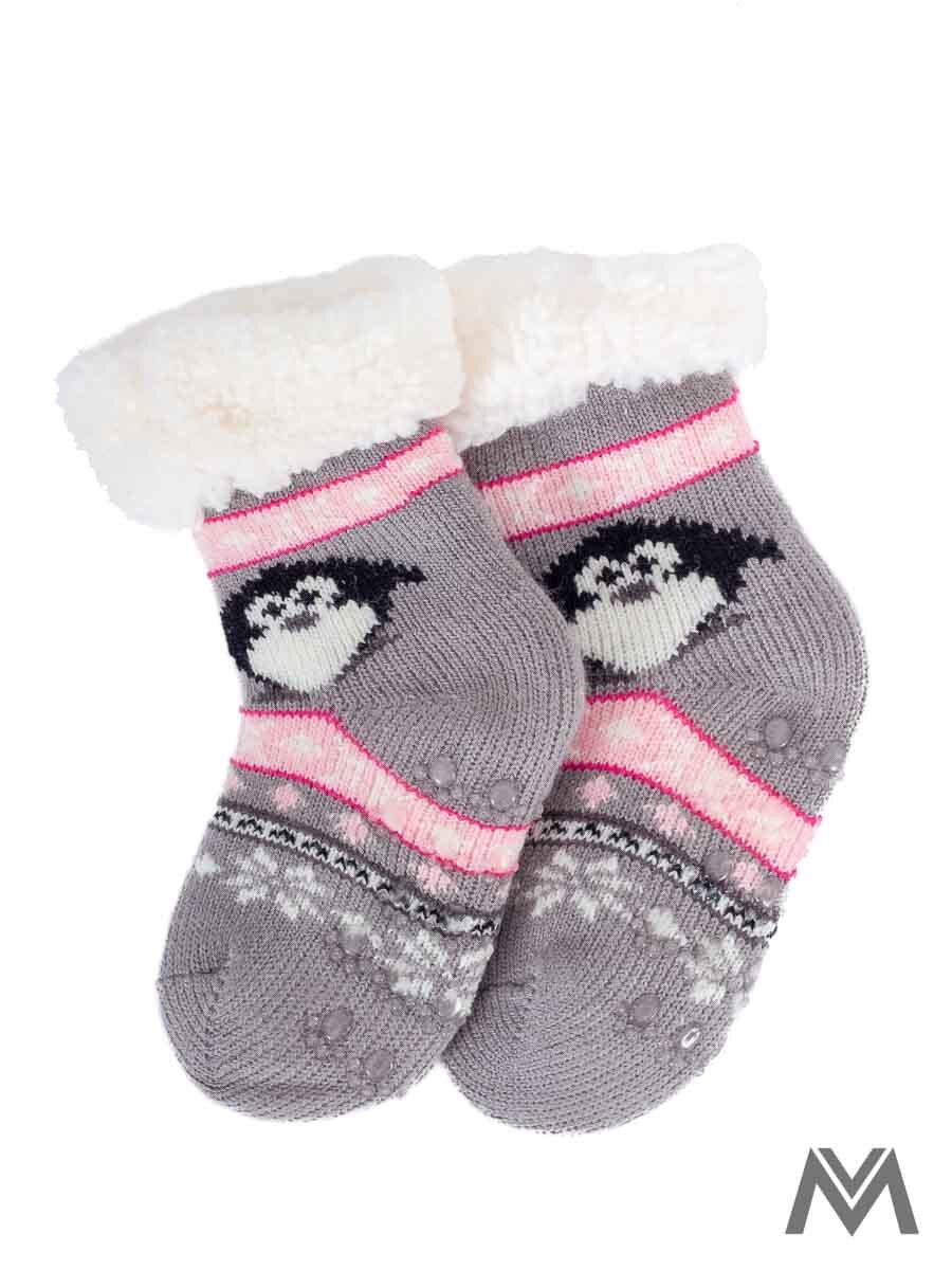 2591ac205 Termo ponožky pre bábätka Tučniak- sivé | ModneVeci.sk
