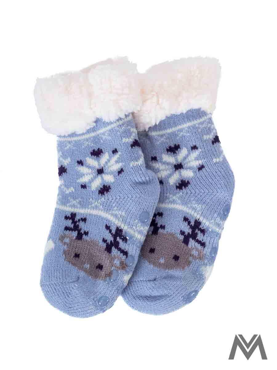 8fb0cb68b Termo ponožky Sobík pre bábätká modré | ModneVeci.sk