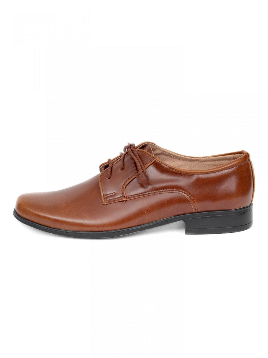 d104be6ff7f9 Chlapčenské spoločenské topánky 225 hnedé