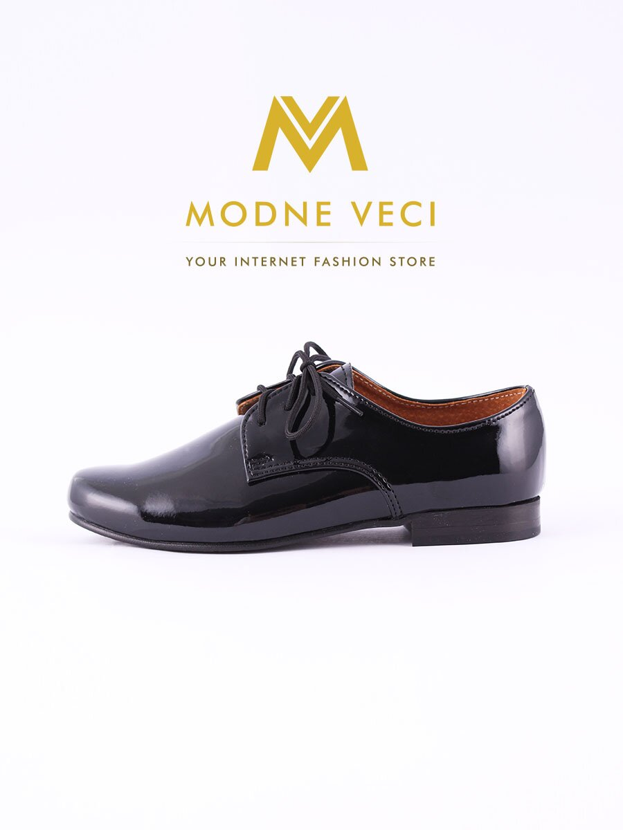 786bf6246 Chlapčenské detské spoločenské kožené topánky 99 čierne| ModneVeci.sk