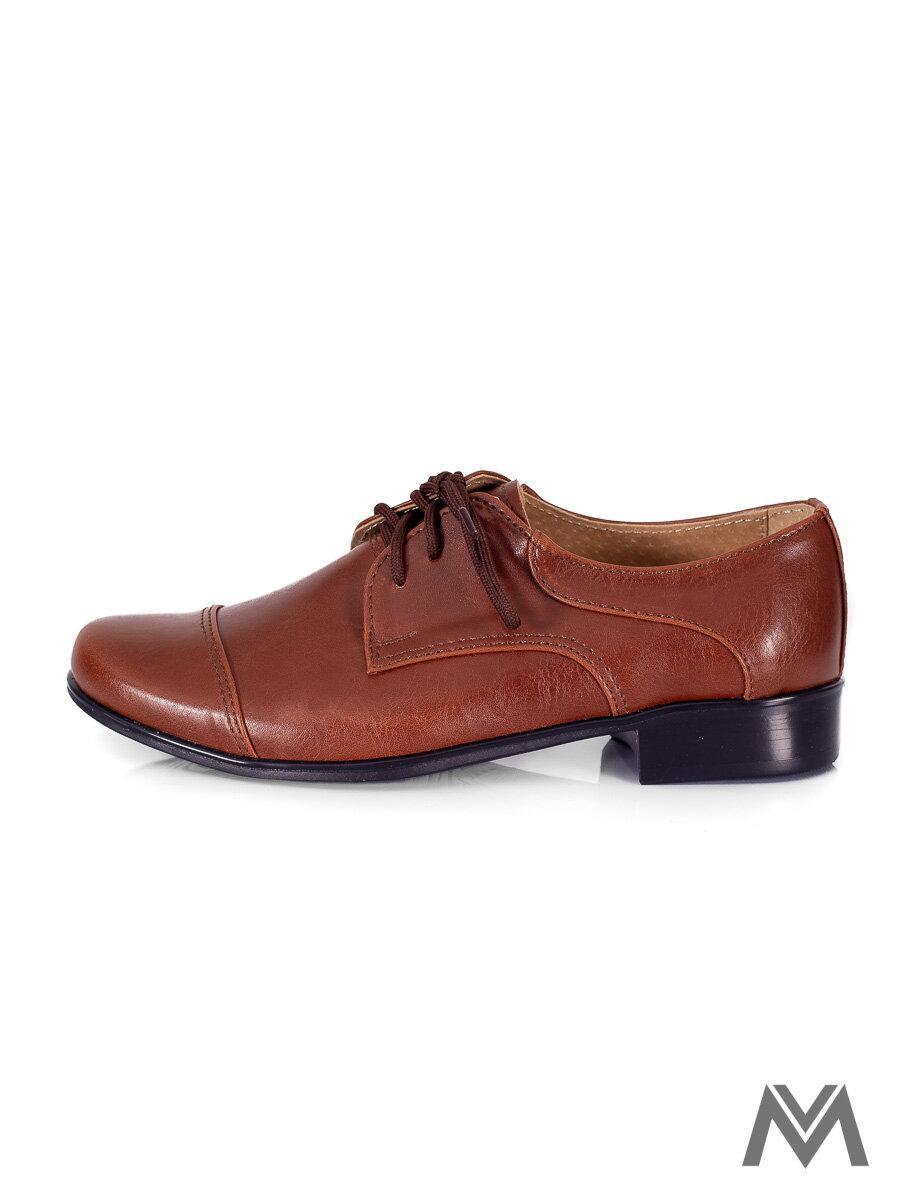 086d56e0ac3c Chlapčenské spoločenské topánky 200 hnedé