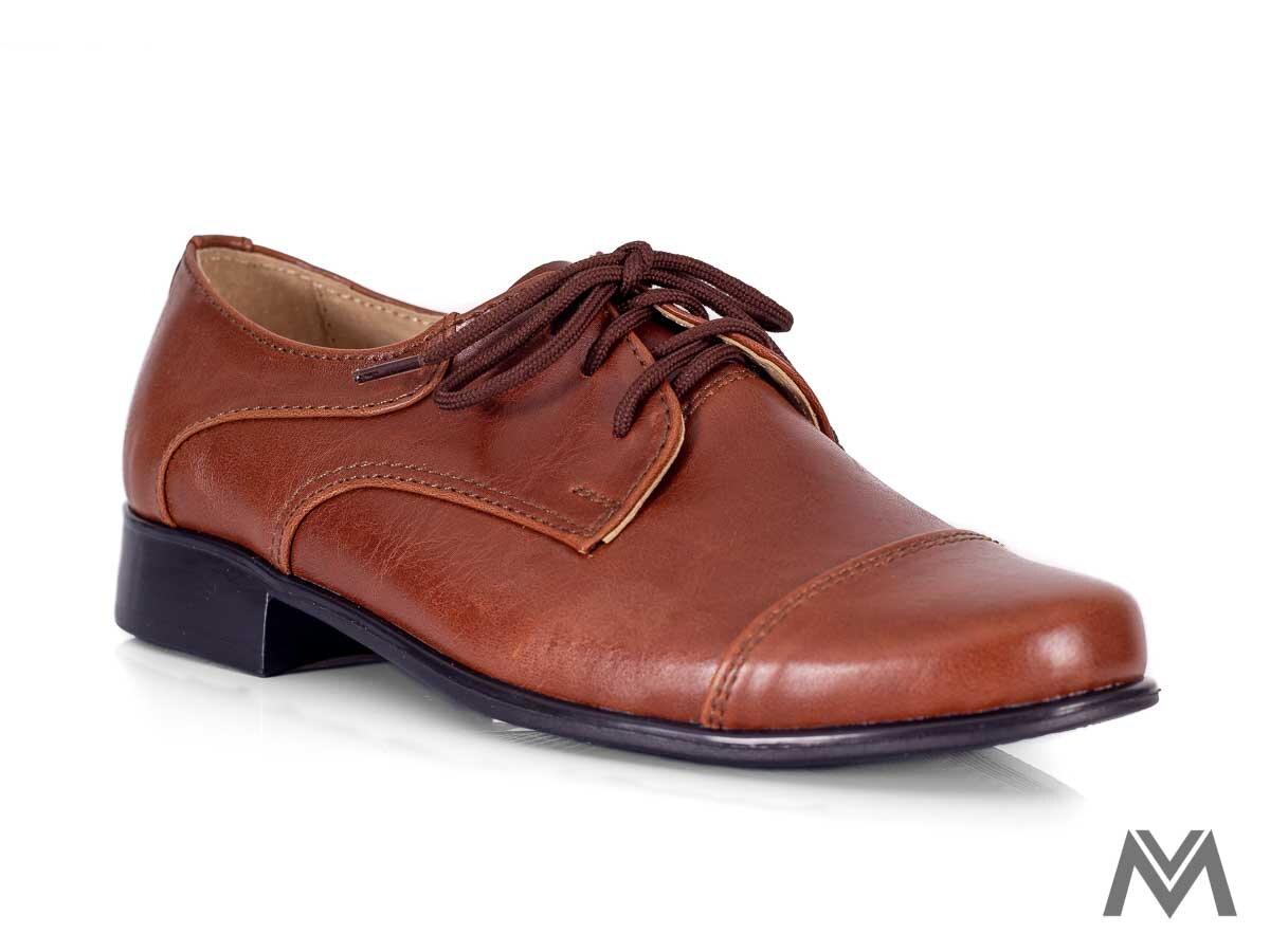 742eccad75 Chlapčenské spoločenské topánky 200 hnedé