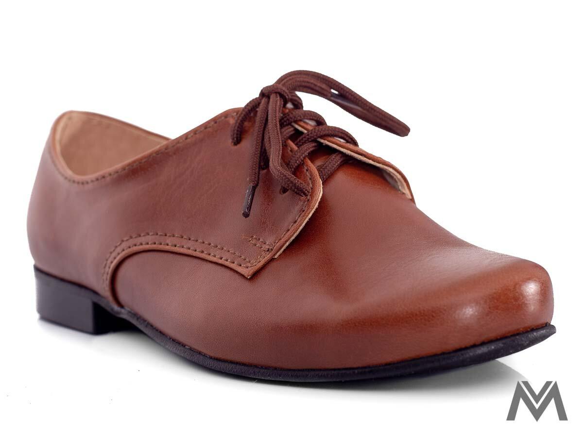 3b907993f Chlapčenské spoločenské topánky 99 z pravej kože hnedé chlapčenské topánky,  detské ...