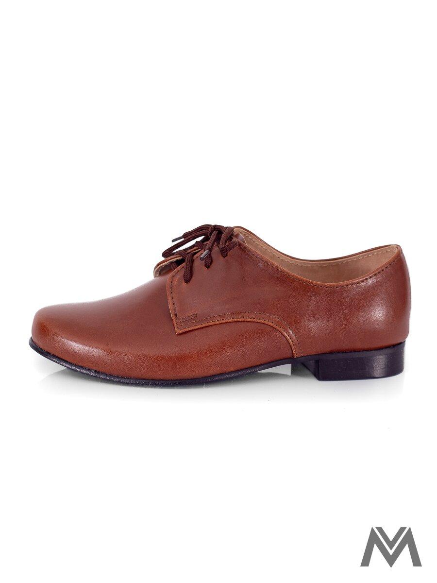 e2081564edb6 Chlapčenské spoločenské topánky 99 z pravej kože hnedé