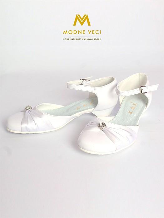 f74ffb168a437 Dievčenské topánky na 1. sv. prijímanie biele 90