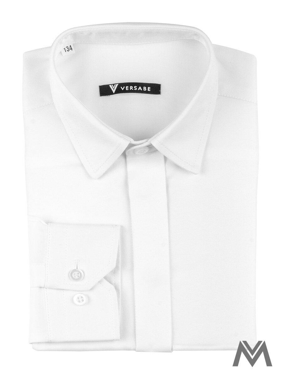 66bab9883245 Detská košeľa pre chlapcov biela VS-PK-1712-B biela SLIM-FIT
