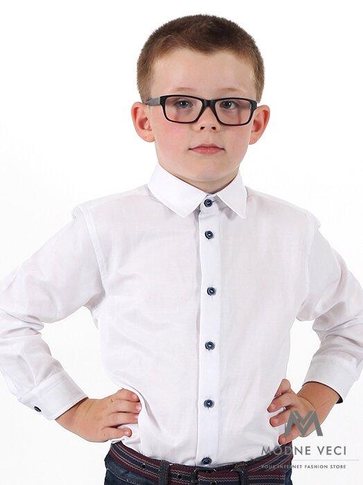 10d513a75a18 Detská chlapčenská košeľa biela VS-PK-1709-B