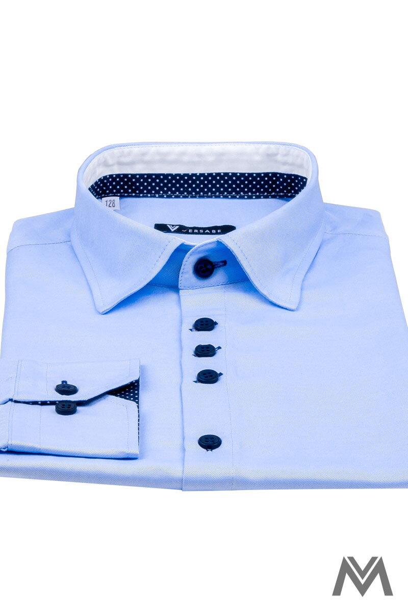 4ab250735419 Detská chlapčenská košeľa VS-PK-1733-B svetlo-modrá
