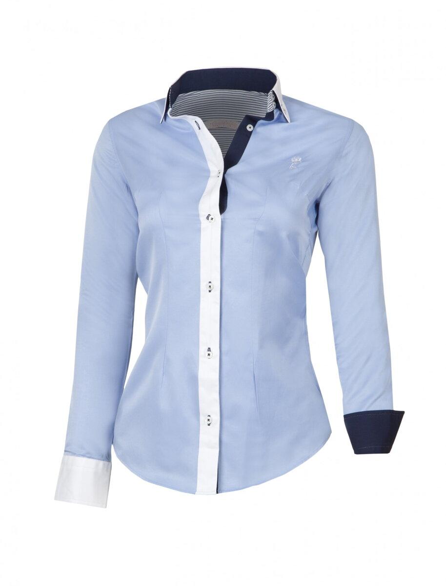 5cea468b1faa Dámska košeľa modro-biela KD-40