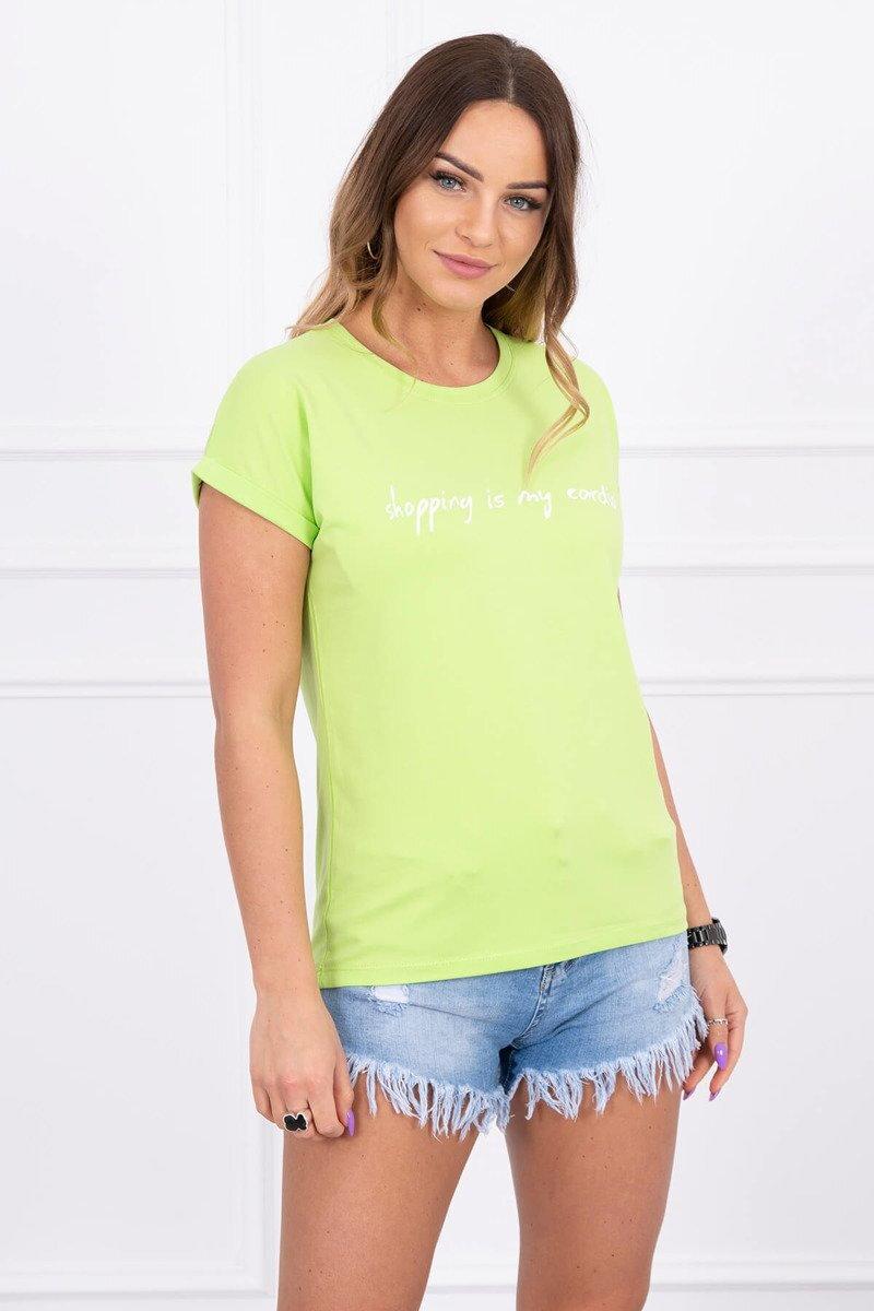 28b4b046ff94c Dámske tričko s nápisom zelené | ModneVeci.sk | Doručenie do 24h