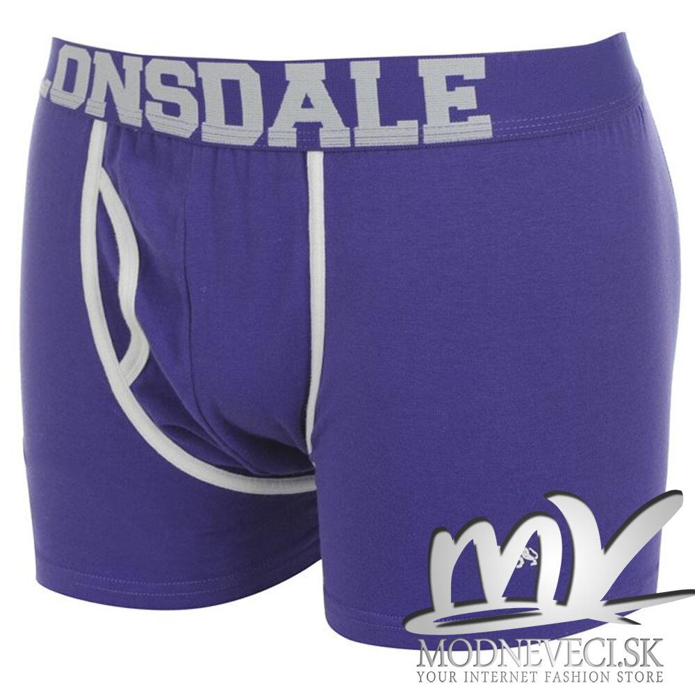 Pánske boxery Lonsdale -fialové 2ks v balení  1ed36b8b9a