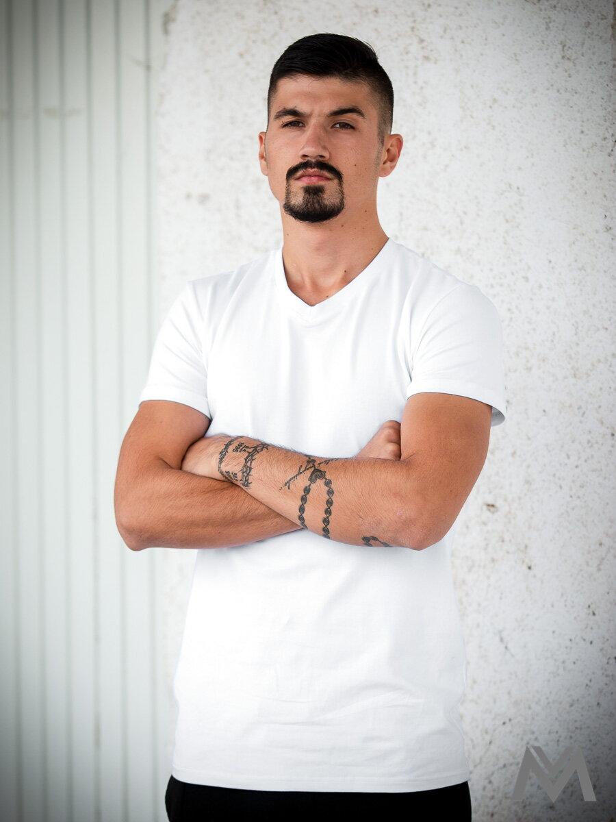 d07291e18e4e Pánske tričko VERSABE z BIO bavlny biele VS-PT1801