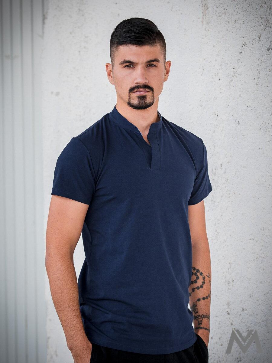 d26fa2b65ac3 Pánske tričko VERSABE z BIO bavlny 02 tmavomodré VS-PT1802 ...