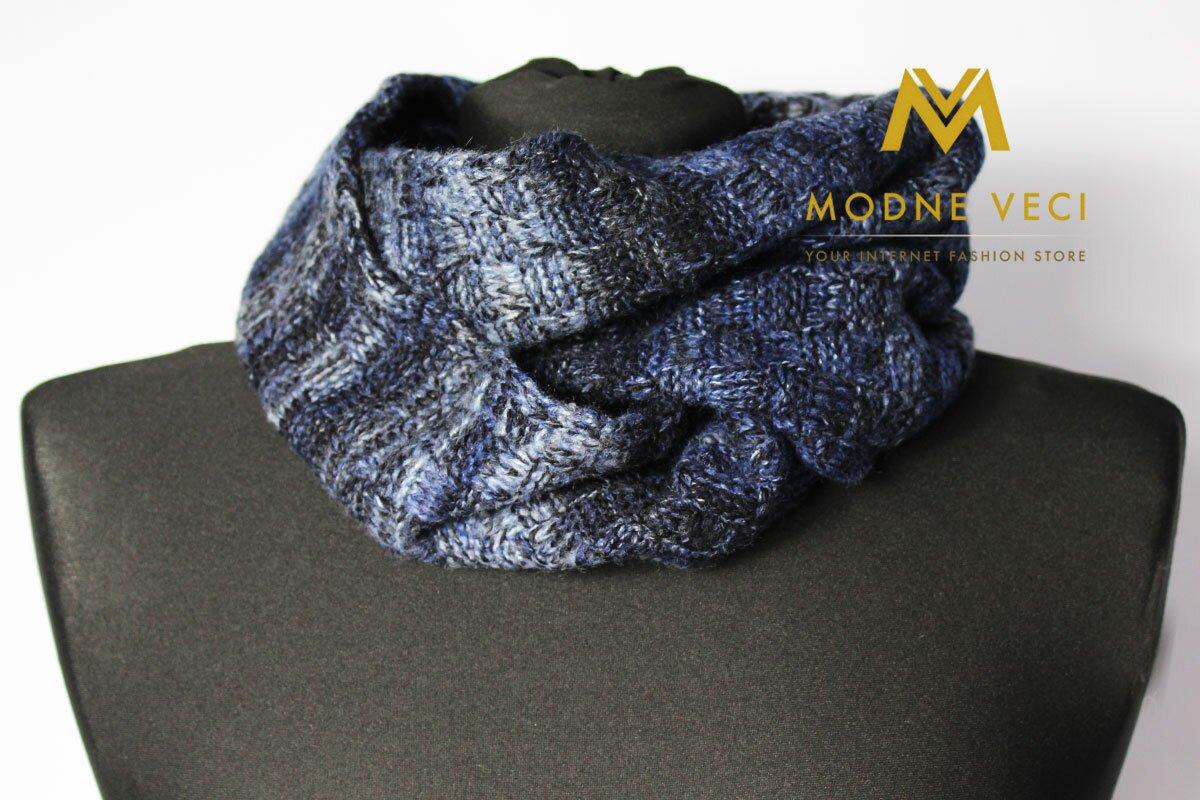 a0c965794 Pánsky šál modrý jeans Alex 02|Modneveci.sk