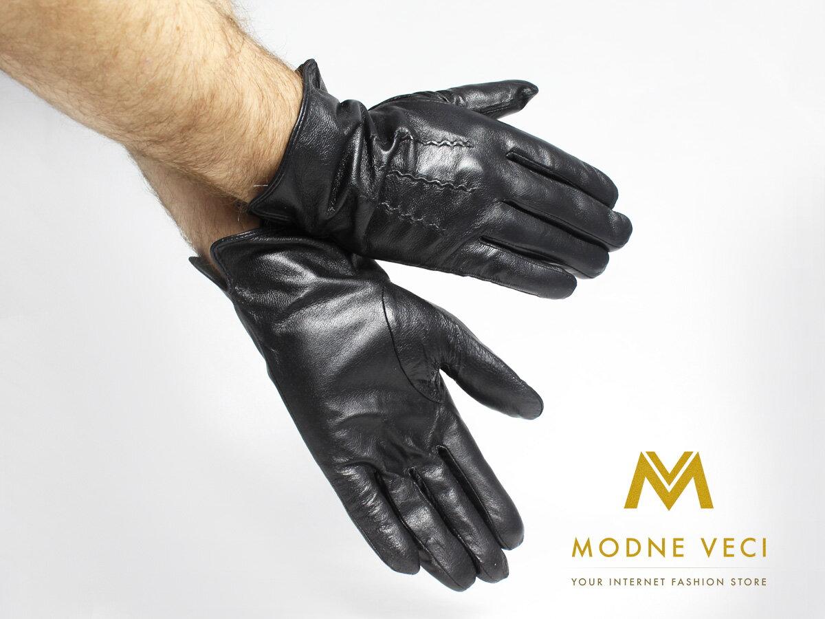 Pánske kožené rukavice čierne model 1 af0cd19820