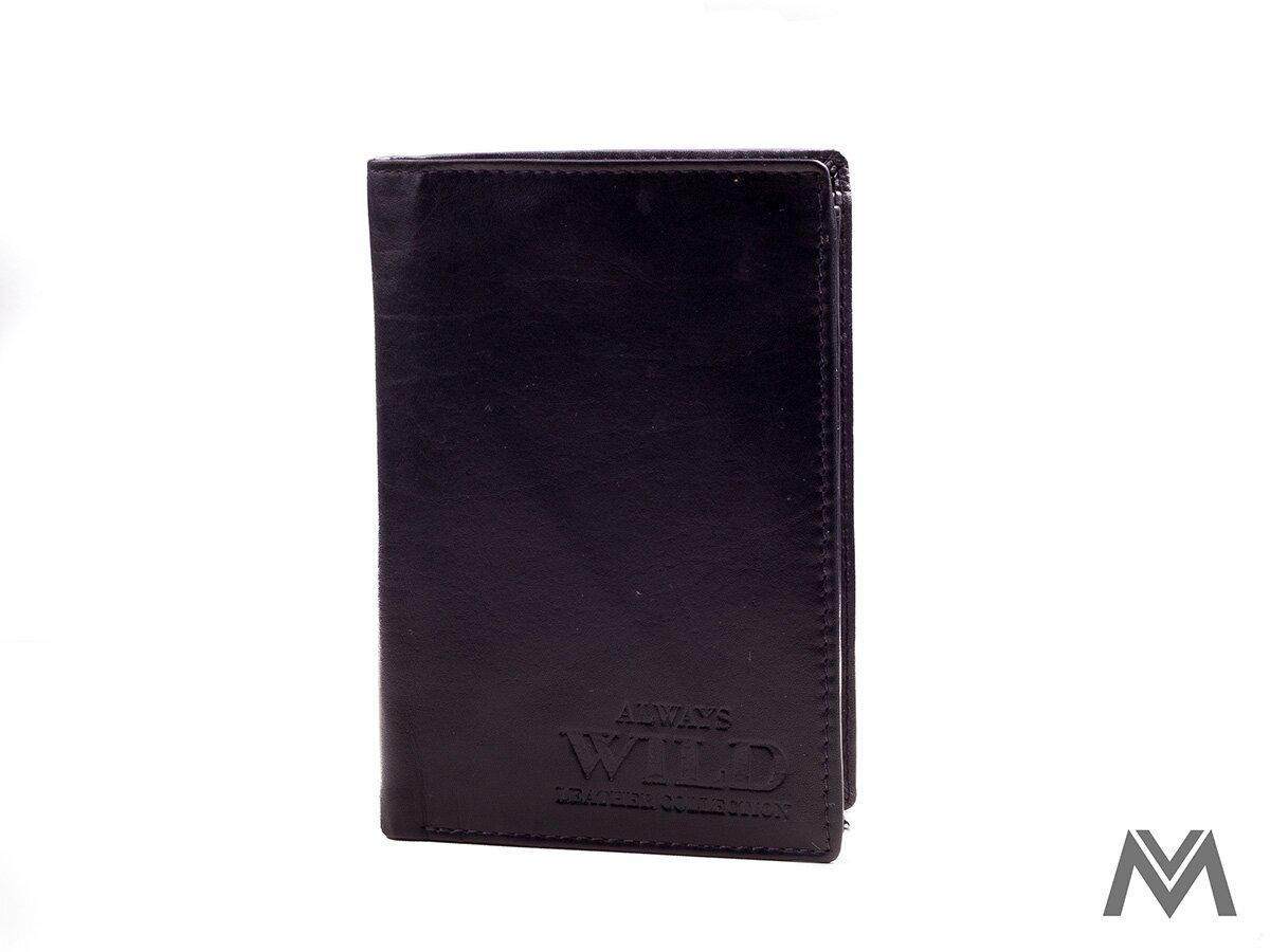 e92c7413f1 Pánska peňaženka kožená čierna WILD 104 S.VT