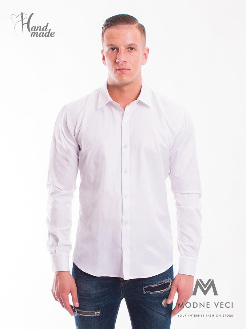 Klasická biela košeľa vhodná do obleku