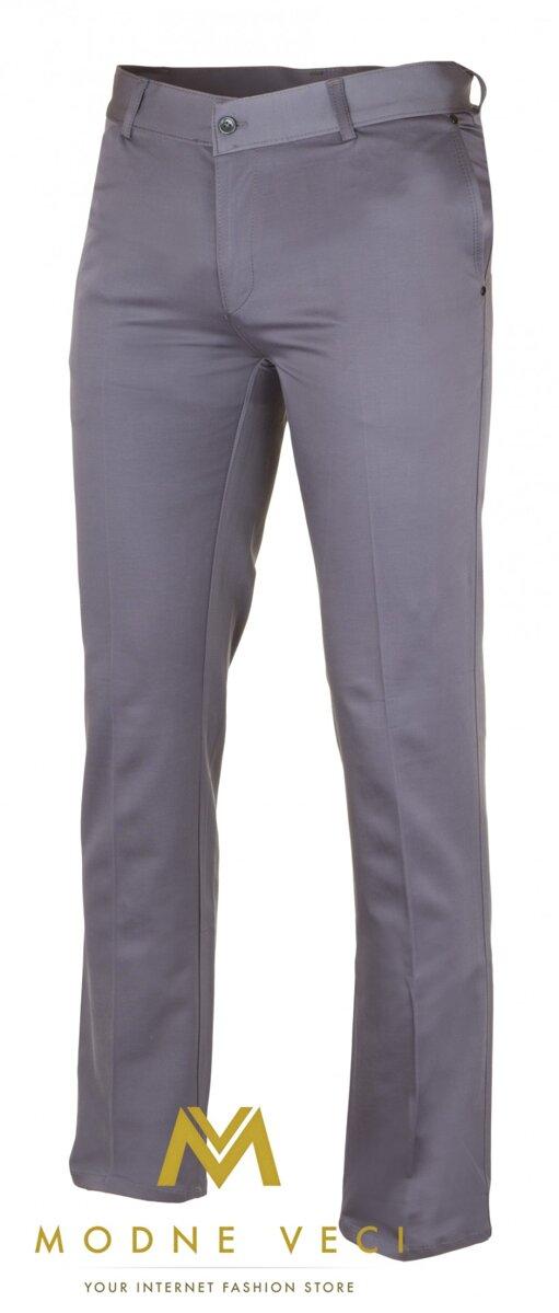 52ff749d668c Slimkové pánske nohavice 10-3 sivé