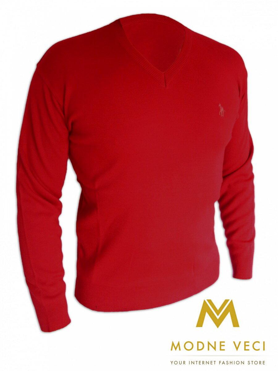 57c328b14f6f Pánsky sveter 01 červený