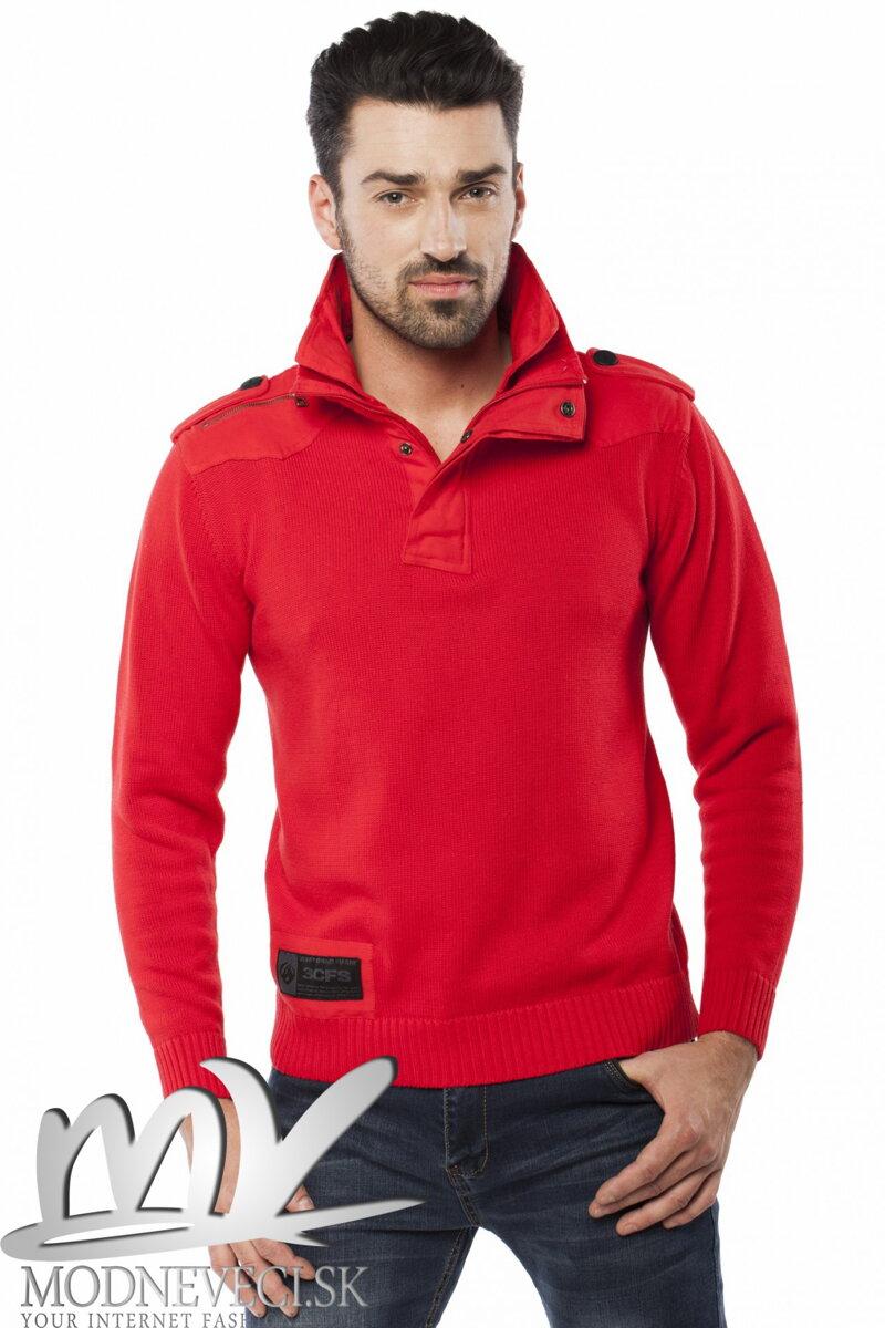 535cbd256e7b Pánsky sveter s golierom červený