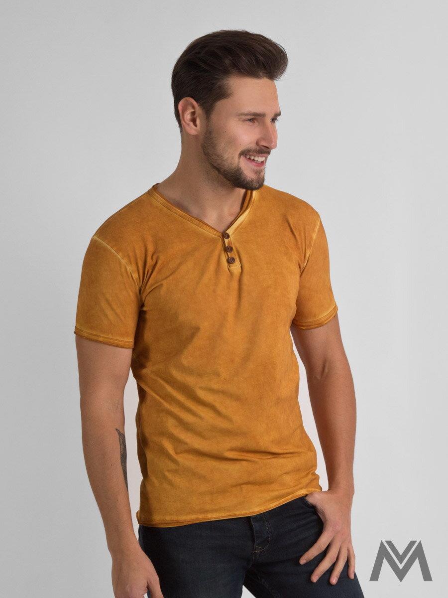 edff47ed5c4c Pánske tričko horčicové 1806-7 krátky rukáv
