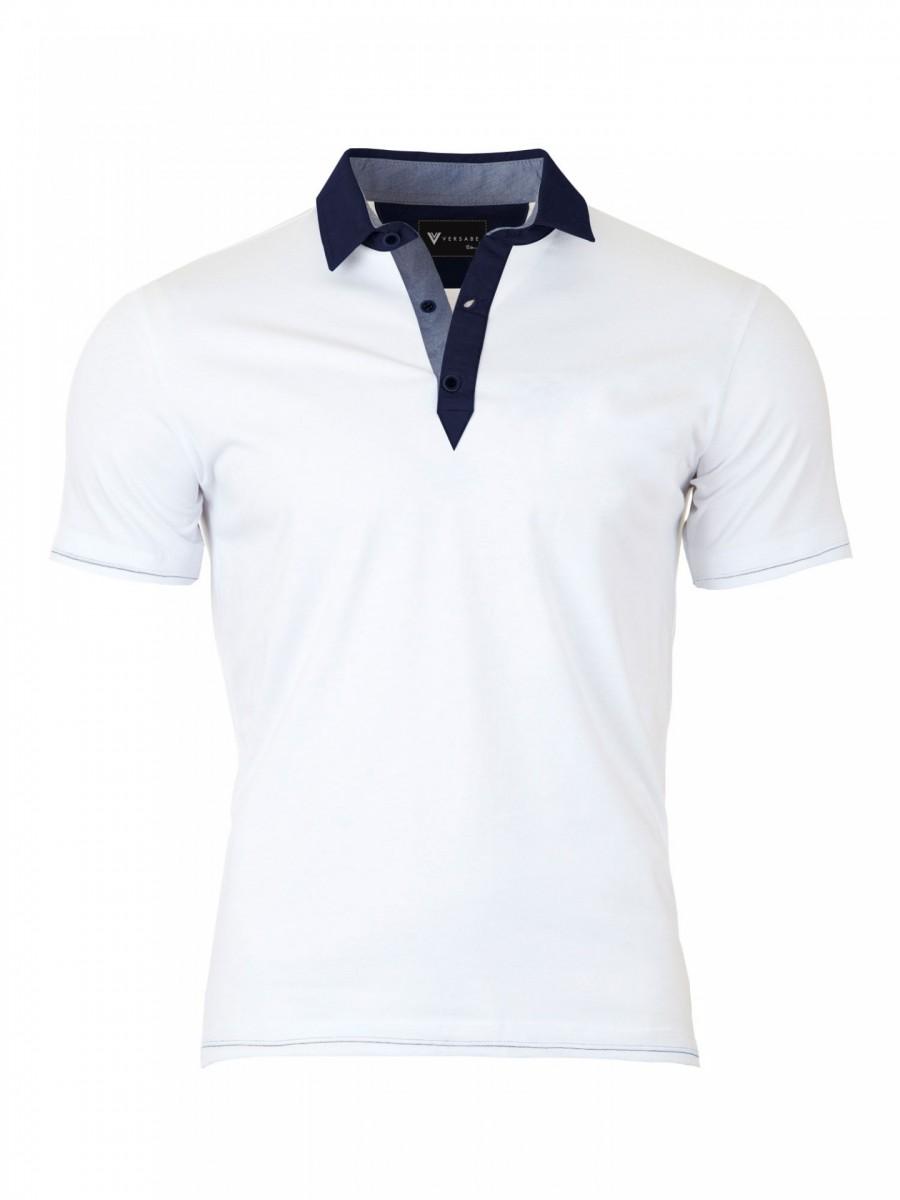 494978f816f6 Pánské Polo tričko Versabe bílé VS-polem 1901