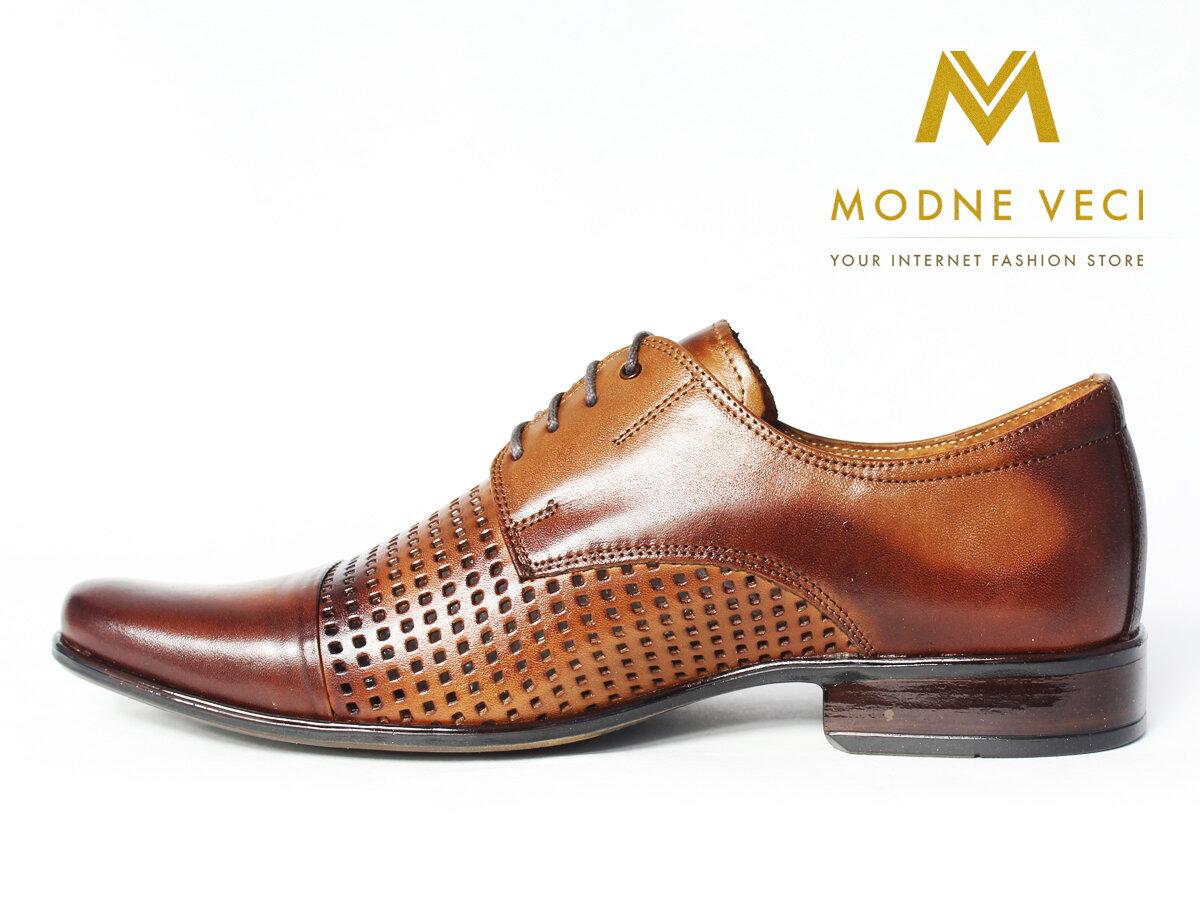 7f04d5dc745e Elegantné topánky - kožené model 218 - hnedé
