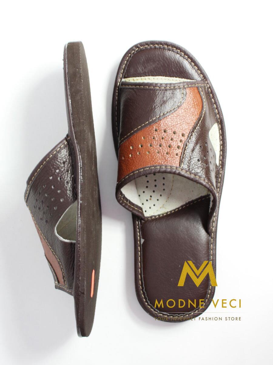 d1a113efa7339 Pánske kožené papuče Model K   ModneVeci.sk