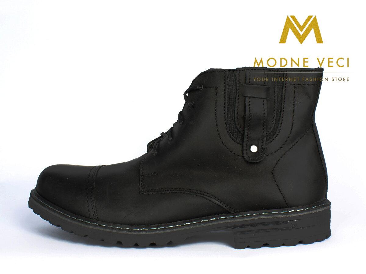 fe24b9f29ea2 Kožené topánky pre muža na zimu 87C čierne