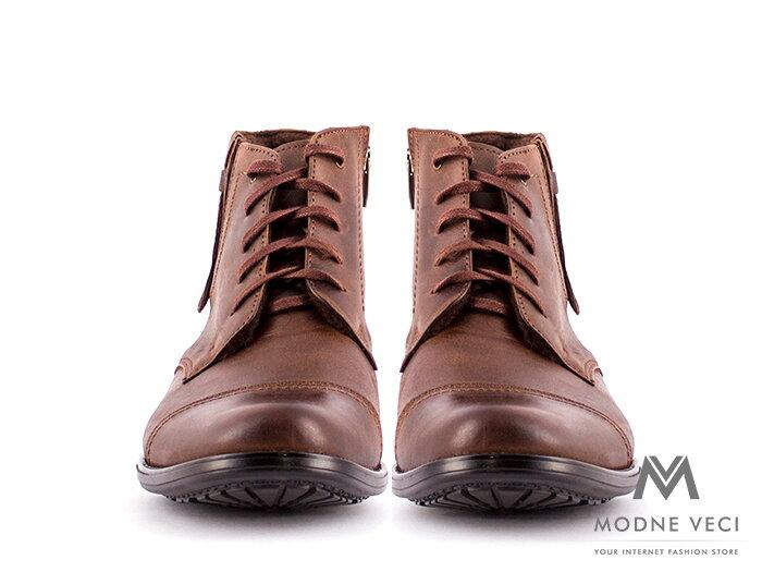 Pánske elegantné kožené topánky zimné 87-B5  83e259ab6d1