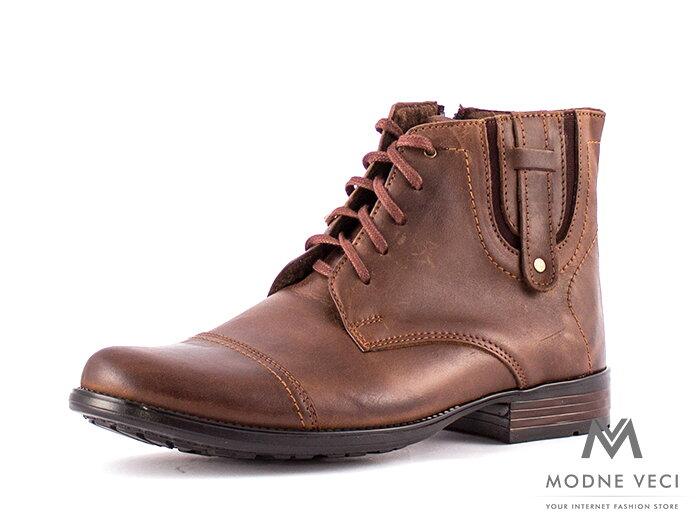 062b7b7636 Pánske elegantné kožené topánky zimné 87-B5