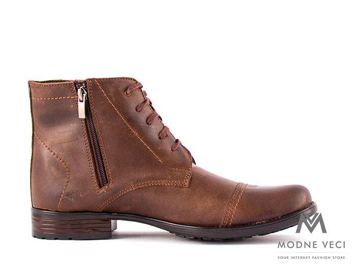 37986d026 Pánske elegantné kožené topánky zimné 87-C hnedé. Hodnotenie produktu:  4.77/5 (26x)