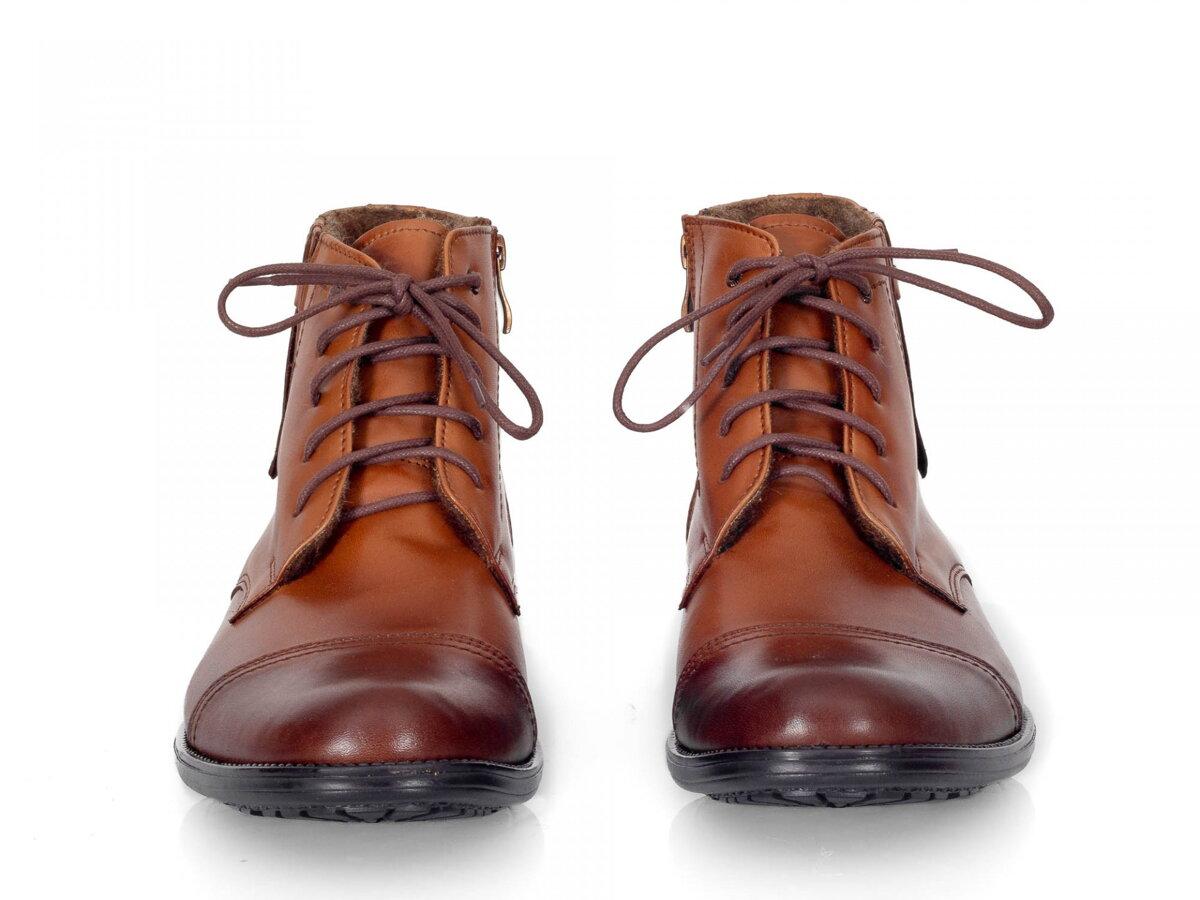5426506a78 Pánske elegantné kožené topánky zimné 87-C hnedé