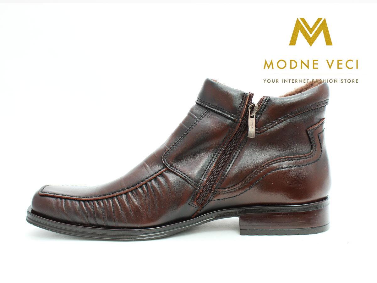 4ba6fe767b Pánske elegantné kožené topánky zimné 58C